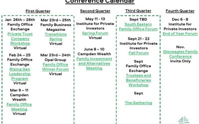 2021 Family Office Conference Master Calendar